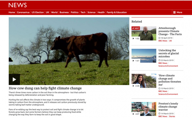 BBC Video: How Cow Dung can help Climate Change