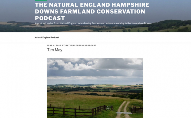 Tim May on the Natural England Podcast
